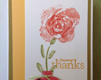Handmade card- thank you card- owl card- grateful-