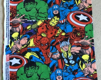 Avengers heroes fleece Spiderman Wolverine Hulk Captain America Ironman Thor - 1.5 yards - Marvel comics