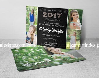 Photo Collage Graduation Party Invite