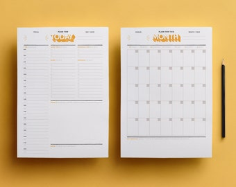 Printable Planners: Monthly Planner - Daily Planner - To Do List - High Quality PDF Instant Download