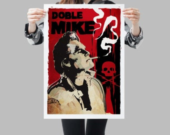 Doble Mike Death Proof Movie Poster - Tarantino wallart print - Available in different sizes. Check the drop-down menu for your choice
