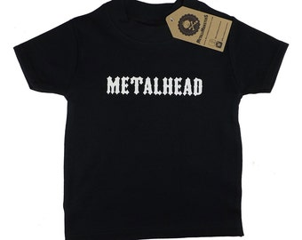 Metalhead childrens T shirt alternative goth rock