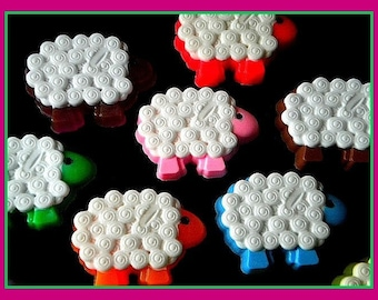 Sheep Soap - Lamb - Easter - Easter Basket - Free U.S. Shipping - Your Choice of Scent and Color - Weddings - Baby Showers - Birthdays