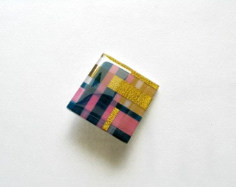 Modern Resin Brooch-Resin Modern Brooch-Contemporary Brooch-Resin Brooch-Multi Colored Brooch-Contemporary Jewelry-Resin Art