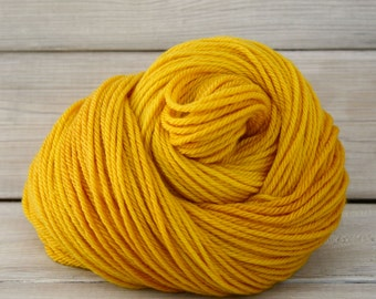 Supernova - Hand Dyed Superwash Merino Wool Worsted Yarn - Colorway: Midas