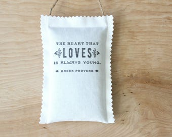 Greek Proverb Lavender Sachet, Car Air Freshener with Inspirational Quote, Best Friend Birthday Gift