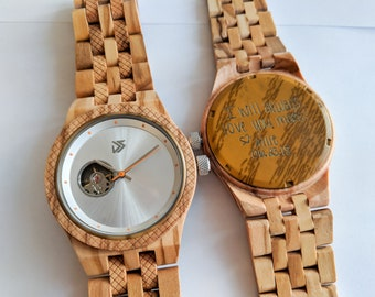 5th Anniversary Gift for Him, 1st Anniversary Gift for Husband, Mens Wooden Watch, Gifts for Him, Boyfriend Birthday Gift, Groomsmen Gift