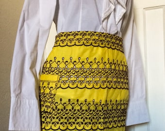 Vintage Yellow Apron from the 1960's