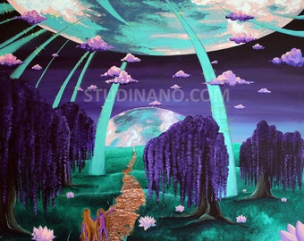 Welcome to your world original painting on canvas