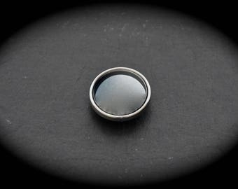 Cabochon natural stone Hematite Non magnetic jewelry 18mm snap
