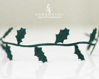 Emerald Green Holly Leaf Trim/Ribbon