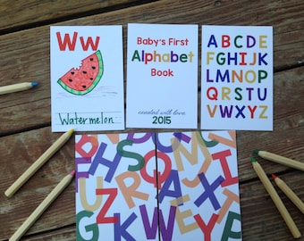 Diy alphabet book etsy instant download diy alphabet book primary colors baby shower activity game baby solutioingenieria Image collections