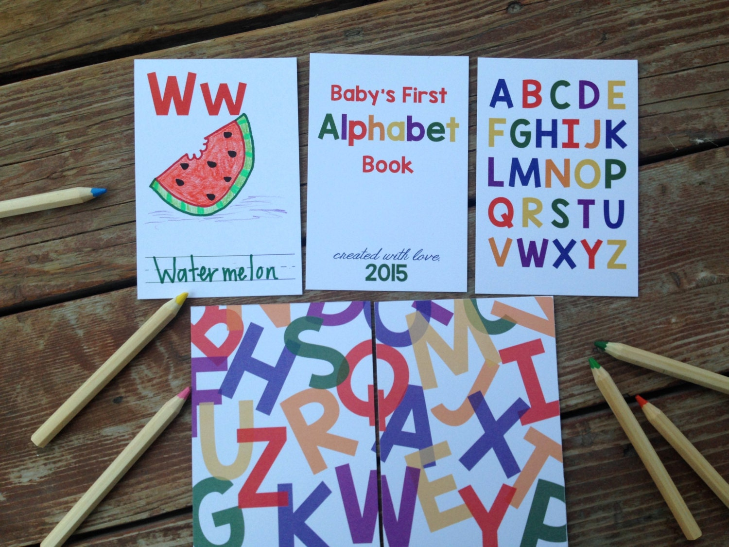 Instant download diy alphabet book primary colors baby zoom solutioingenieria