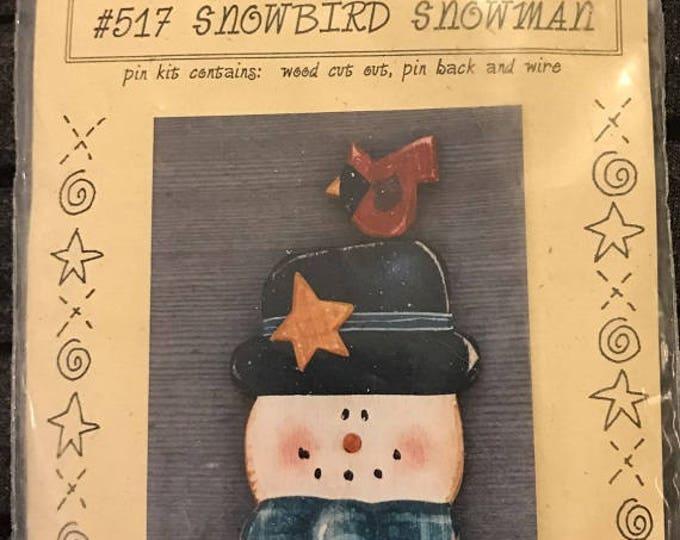 Country Faces Folk Art Designs – 1997 Wood Crafts Pin Kit – #516 Santa & Stocking - Wood Pin Kit