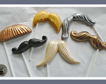 Chocolate Moustache Lollipops/Mustache/Fun Mens Gift/Boyfriend/Husband/Dad/Uncle/Brother/Nephew/Male/Wedding Favours/For Him/Birthday/Groom
