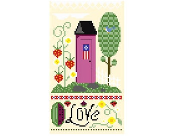 PDF -- Summer Outhouse Cross Stitch Pattern