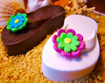 """Wedding Flip Flops Chocolate Covered Cookies In """"SAND"""" Hawaiian Luau Party Favors  Summer Party Favor Bridal Shower ~ Beach Wedding Favors"""