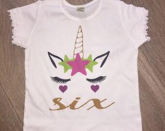 Unicorn Birthday Shirt, Unicorn Shirt, Personalized Birthday shirt, Unicorn, Girl Birthday shirt, girl birthday, girl shirt