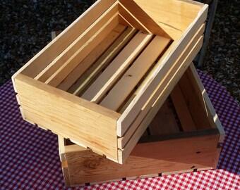 Wooden Crates, wood hamper kitchen storage bespoke gift