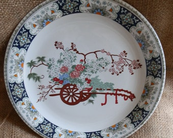 Vintage 1988 Porcelana Real Brasil Floral Collector's Plate Signed