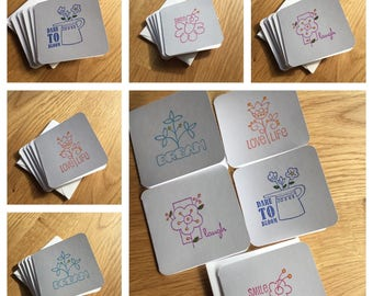 Positive Words Mini Note Cards Set