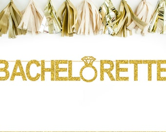 Bachelorette Banner - Bachelorette Party Banner - Bachelorette Party Decor - Glitter Bachelorette Banner