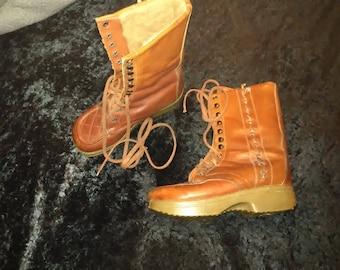 1970s 6.5 Tomis Leather Winter Hippie Retro Vintage Boots