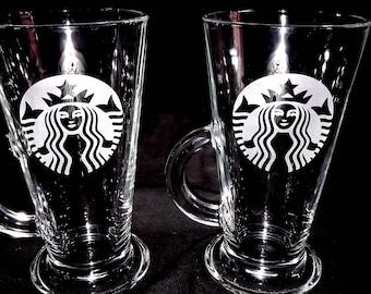 Starbucks logo Latte Glasses