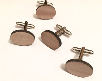 Handmade mens/boys wooden cufflinks