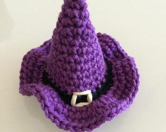 Halloween Amigurumi Crochet Pattern : Items similar to halloween witch hat crochet pattern pdf halloween