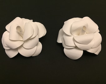 Wedding White Paper Flowers - Loose Flowers - Unique Wedding Decor - White Party Decorations