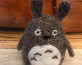 Totoro felted figure