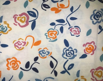 Fabric with roses.  Fabric with flowers