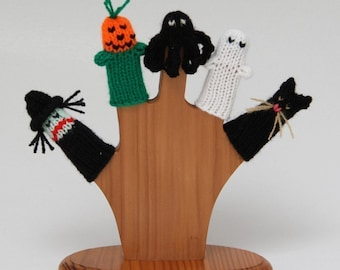 Halloween Finger Puppet Set (Includes Witch, Pumpkin, Spider, Ghost, and Black Cat.)  We can create custom listings.