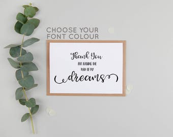 Parents In Law Wedding Day Card - Thank You For Raising The Man Of My Dreams - Woman Of My Dreams Wedding Day Card - Parents-In-Law Card