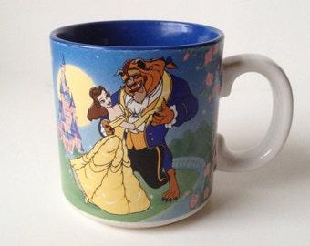 Vintage Disney's Beauty and the Beast Coffee Mug - Belle Cup - Walt Disney Company