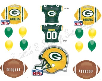 GREEN BAY PACKERS Football Party Balloons Decorations Supplies