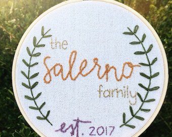 Wedding Date Embroidery Hoop