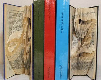 Folded Books:  A-Z Bookends