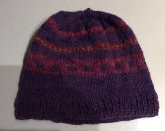 Alpaca hand knit hat