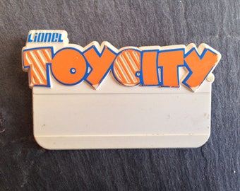 Lionel Toy City Employee Name Tag