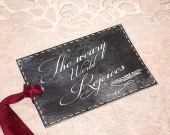 Chalkboard is all The Rage! The Weary World Rejoices Gift Tag Chalkboard Decor Style Christmas Gift Tags Christmas Gift Chalkboard Gift Tag