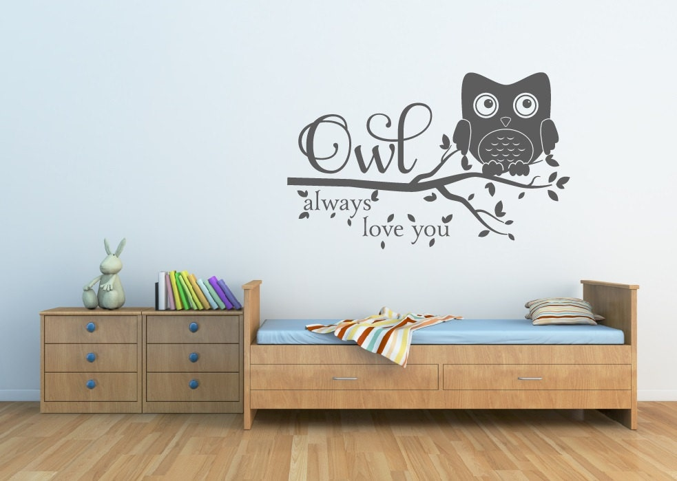 ?zoom & Owl Decor Owl Always Love You Wall Decal Owl Nursery Decal Owl Wall Decal Nursery Decor Vinyl Wall Decal