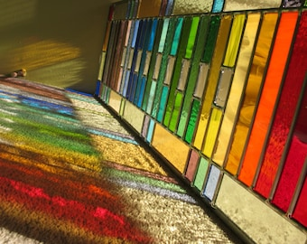 Stained Glass Modern Rainbow