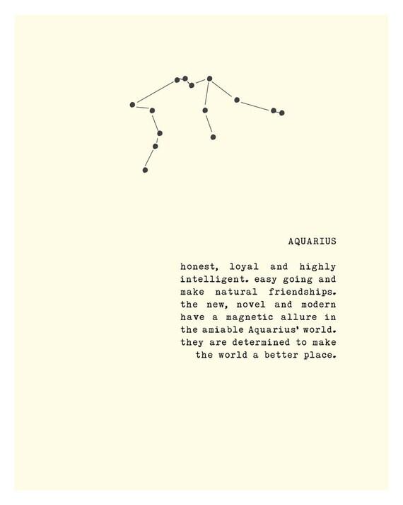 Aquarius Zodiac Sign Poster Constellation Art Aquarius