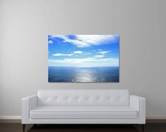 Large Wall Art, Canvas Art, Large Nature Photography, Blue Art, Ocean Canvas Print, Water Art, Fine Art Photography, Large Seascape Art