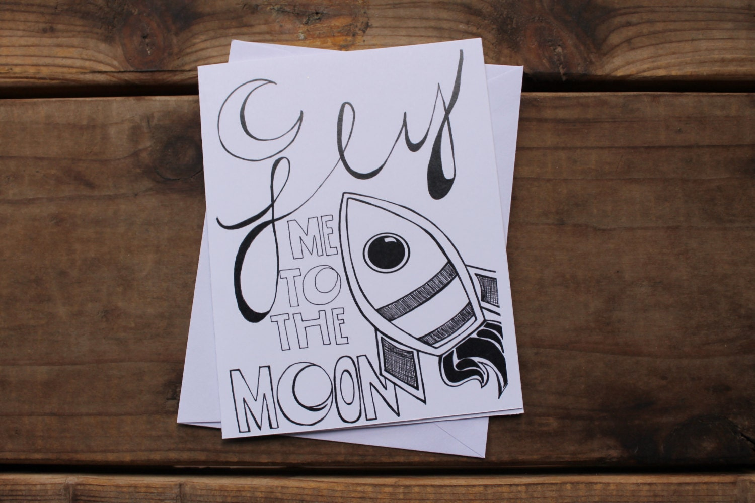 Fly me to the moon greeting card zoom kristyandbryce Image collections