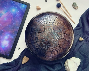 "Steel Tongue Drum ""Space Inside"" Ø30cm (11"") tongue drum tank drum"