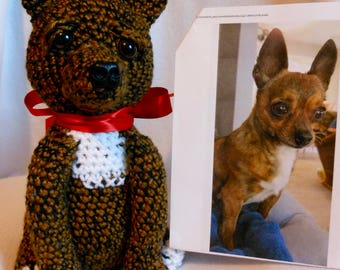 Custom Crochet Dog, Chihuahua, Made to Look Like Owner's Dog, Canine, Stuffed Dog, Look Alike, Pet Memorial, Pet Remembrance, Custom Dog