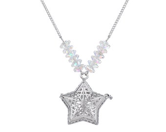 Essential Oils Diffuser Necklace, Star Necklace, Essential Oils Necklace, DarlingJ - DJN18015